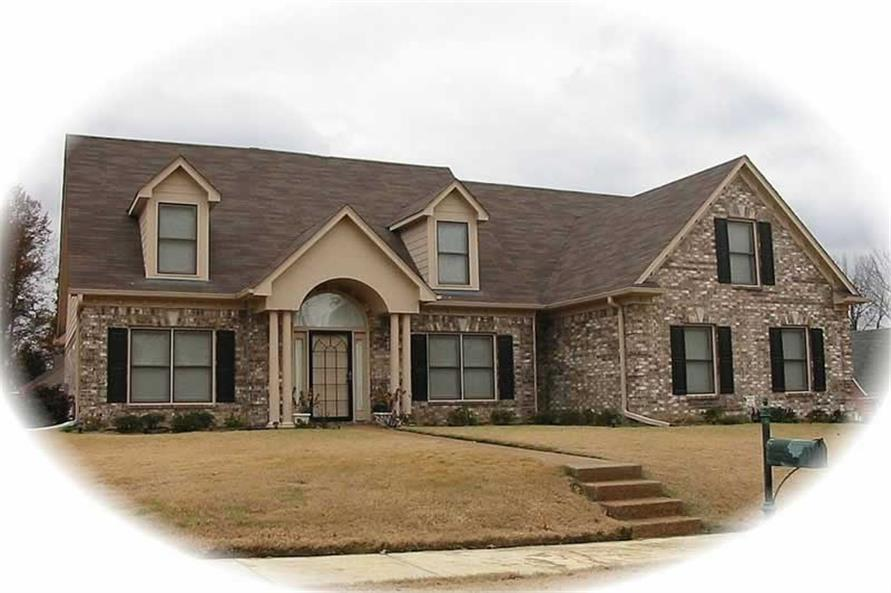 3-Bedroom, 3019 Sq Ft French Home Plan - 170-3119 - Main Exterior
