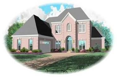 4-Bedroom, 3210 Sq Ft European House Plan - 170-3120 - Front Exterior