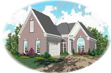 2-Bedroom, 1892 Sq Ft Contemporary House Plan - 170-3121 - Front Exterior