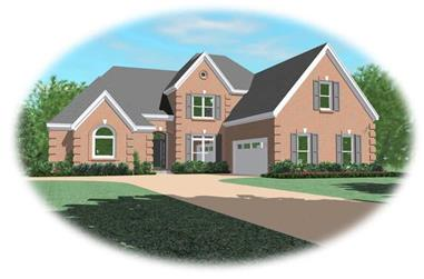 4-Bedroom, 3457 Sq Ft French Home Plan - 170-3125 - Main Exterior
