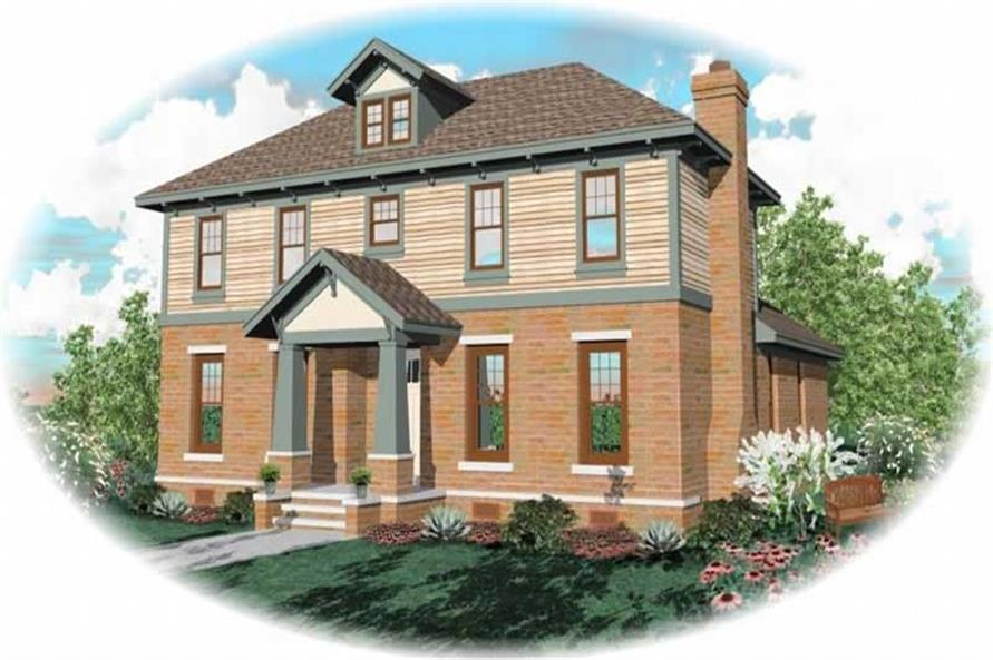 3-Bedroom, 3074 Sq Ft Craftsman Home Plan - 170-3128 - Main Exterior