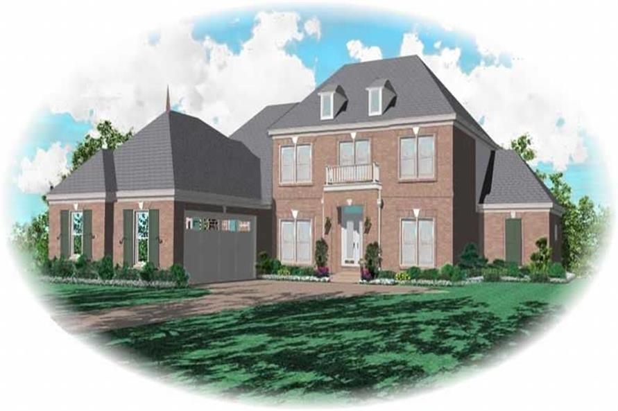 3-Bedroom, 3168 Sq Ft French Home Plan - 170-3130 - Main Exterior
