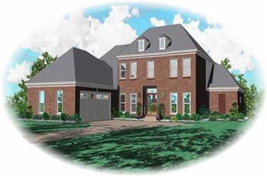3-Bedroom, 3158 Sq Ft French House Plan - 170-3131 - Front Exterior