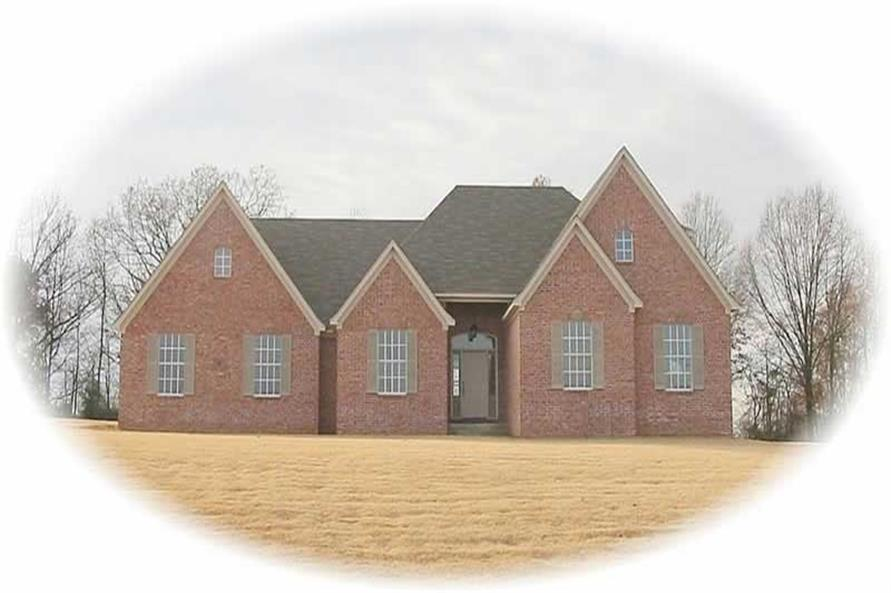 4-Bedroom, 2781 Sq Ft French Home Plan - 170-3135 - Main Exterior