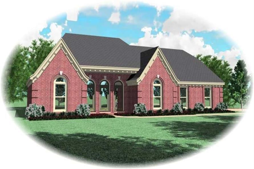 3-Bedroom, 2485 Sq Ft French House Plan - 170-3137 - Front Exterior