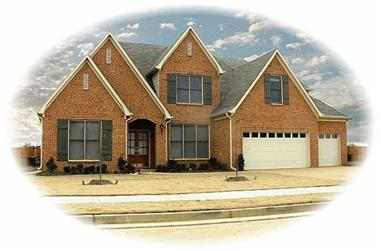4-Bedroom, 3485 Sq Ft French Home Plan - 170-3143 - Main Exterior