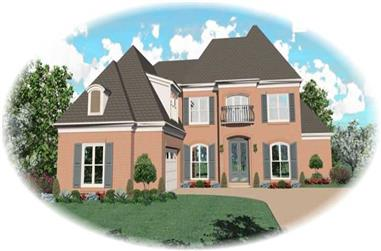 4-Bedroom, 3833 Sq Ft Country Home Plan - 170-3144 - Main Exterior
