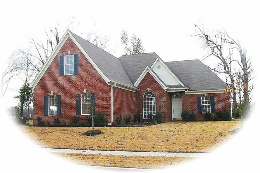 3-Bedroom, 1616 Sq Ft French House Plan - 170-3145 - Front Exterior