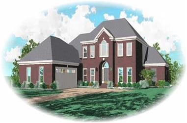 3-Bedroom, 3207 Sq Ft French Home Plan - 170-3148 - Main Exterior