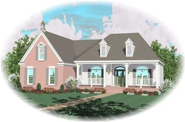 3-Bedroom, 2839 Sq Ft Country Home Plan - 170-3150 - Main Exterior