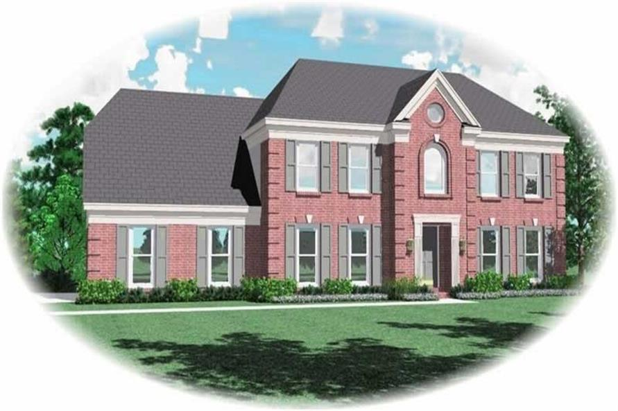 4-Bedroom, 2857 Sq Ft Traditional Home Plan - 170-3153 - Main Exterior