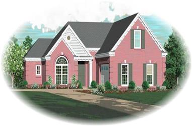 2-Bedroom, 1823 Sq Ft French House Plan - 170-3155 - Front Exterior