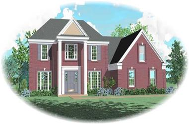 4-Bedroom, 2952 Sq Ft Traditional Home Plan - 170-3164 - Main Exterior
