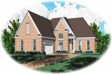 3-Bedroom, 3635 Sq Ft French House Plan - 170-3165 - Front Exterior
