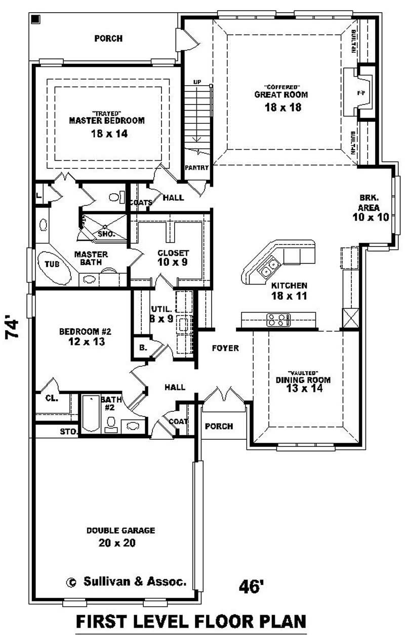 Traditional French House Plans Home Design Su B2239