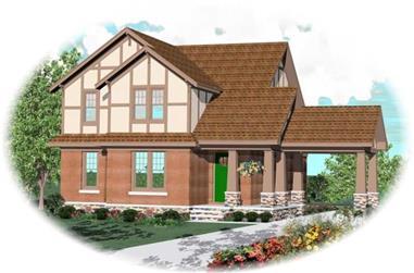 4-Bedroom, 2465 Sq Ft Craftsman House Plan - 170-3183 - Front Exterior