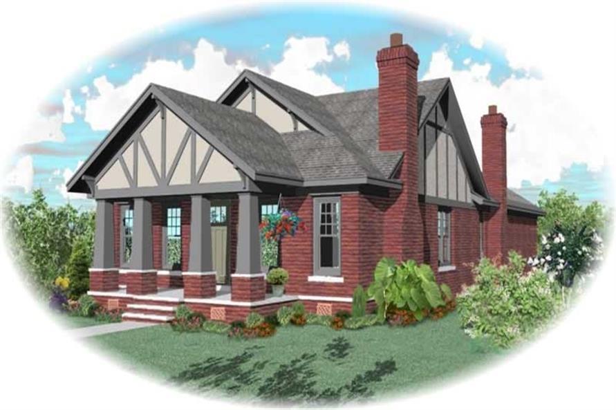 3-Bedroom, 2169 Sq Ft Craftsman House Plan - 170-3192 - Front Exterior