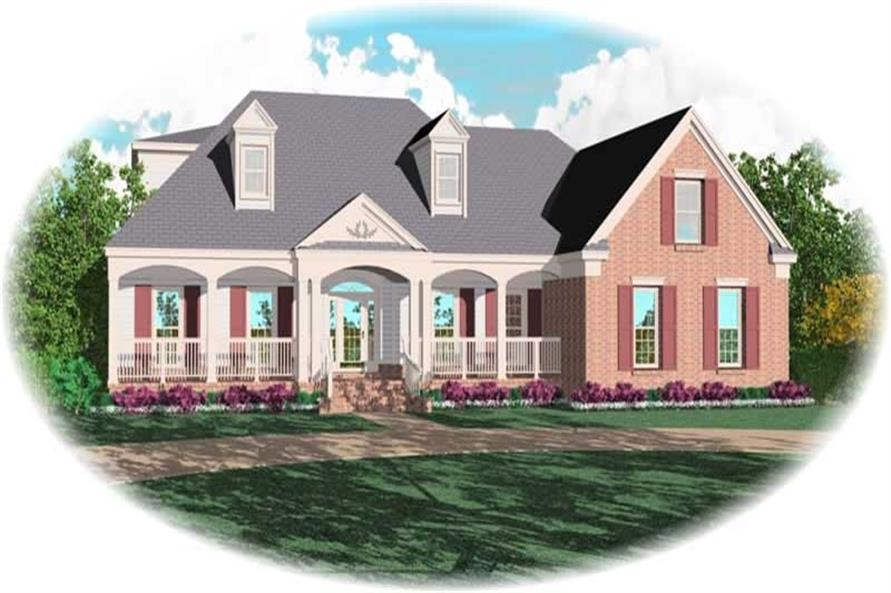 4-Bedroom, 3519 Sq Ft Country House Plan - 170-3196 - Front Exterior