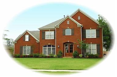 4-Bedroom, 3730 Sq Ft French House Plan - 170-3203 - Front Exterior