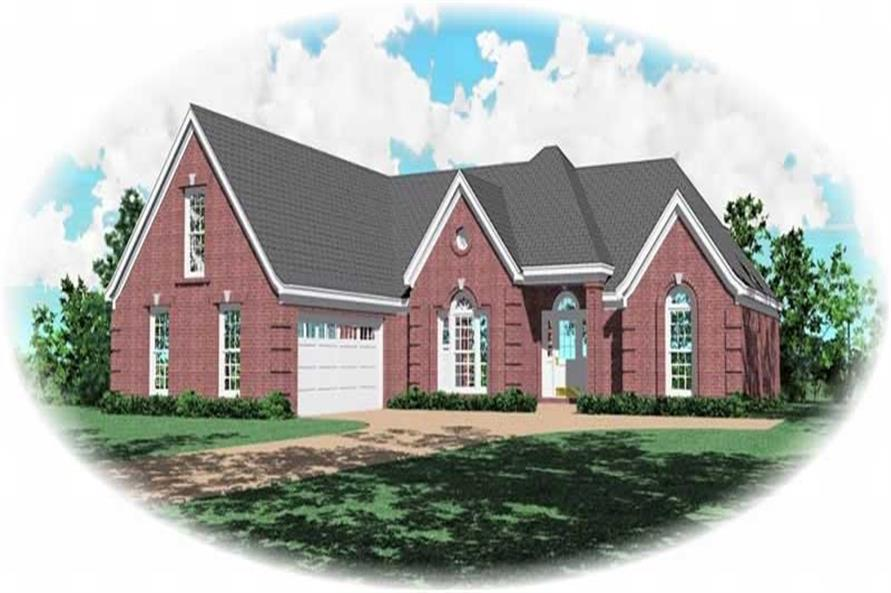 3-Bedroom, 2448 Sq Ft French House Plan - 170-3205 - Front Exterior