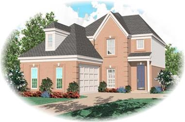 3-Bedroom, 1969 Sq Ft French Home Plan - 170-3208 - Main Exterior