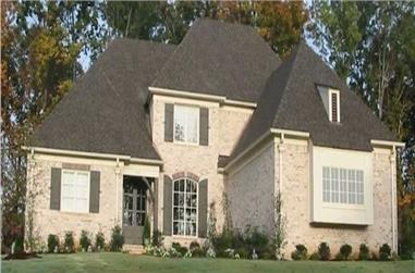 4-Bedroom, 3491 Sq Ft French Home Plan - 170-3210 - Main Exterior