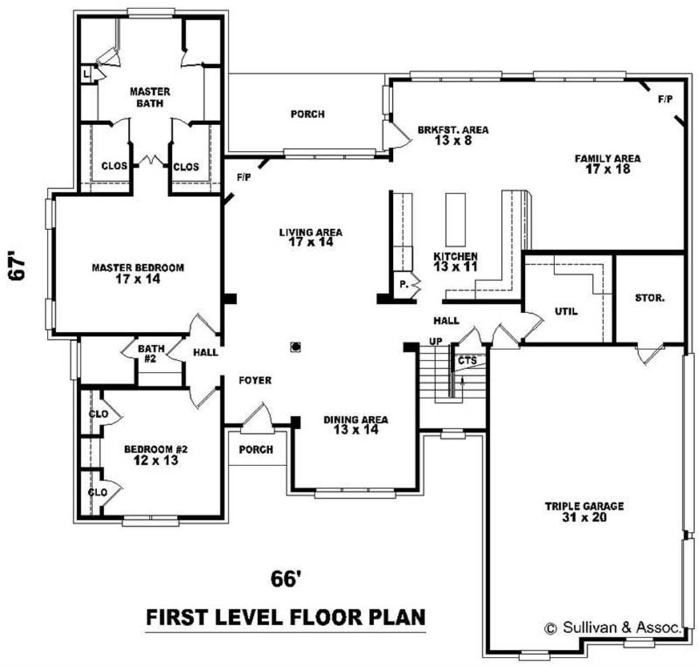 Big house floor plans gurus floor for Large home plans with pictures