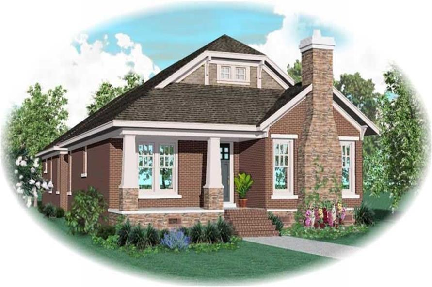 2-Bedroom, 2842 Sq Ft Craftsman House Plan - 170-3216 - Front Exterior