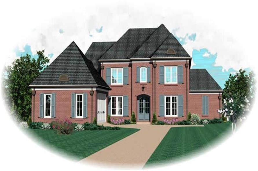 4-Bedroom, 3318 Sq Ft French House Plan - 170-3217 - Front Exterior