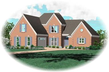 3-Bedroom, 2534 Sq Ft French Home Plan - 170-3229 - Main Exterior