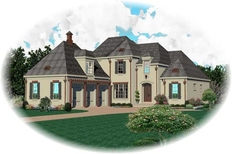 3-Bedroom, 4373 Sq Ft Country Home Plan - 170-3232 - Main Exterior
