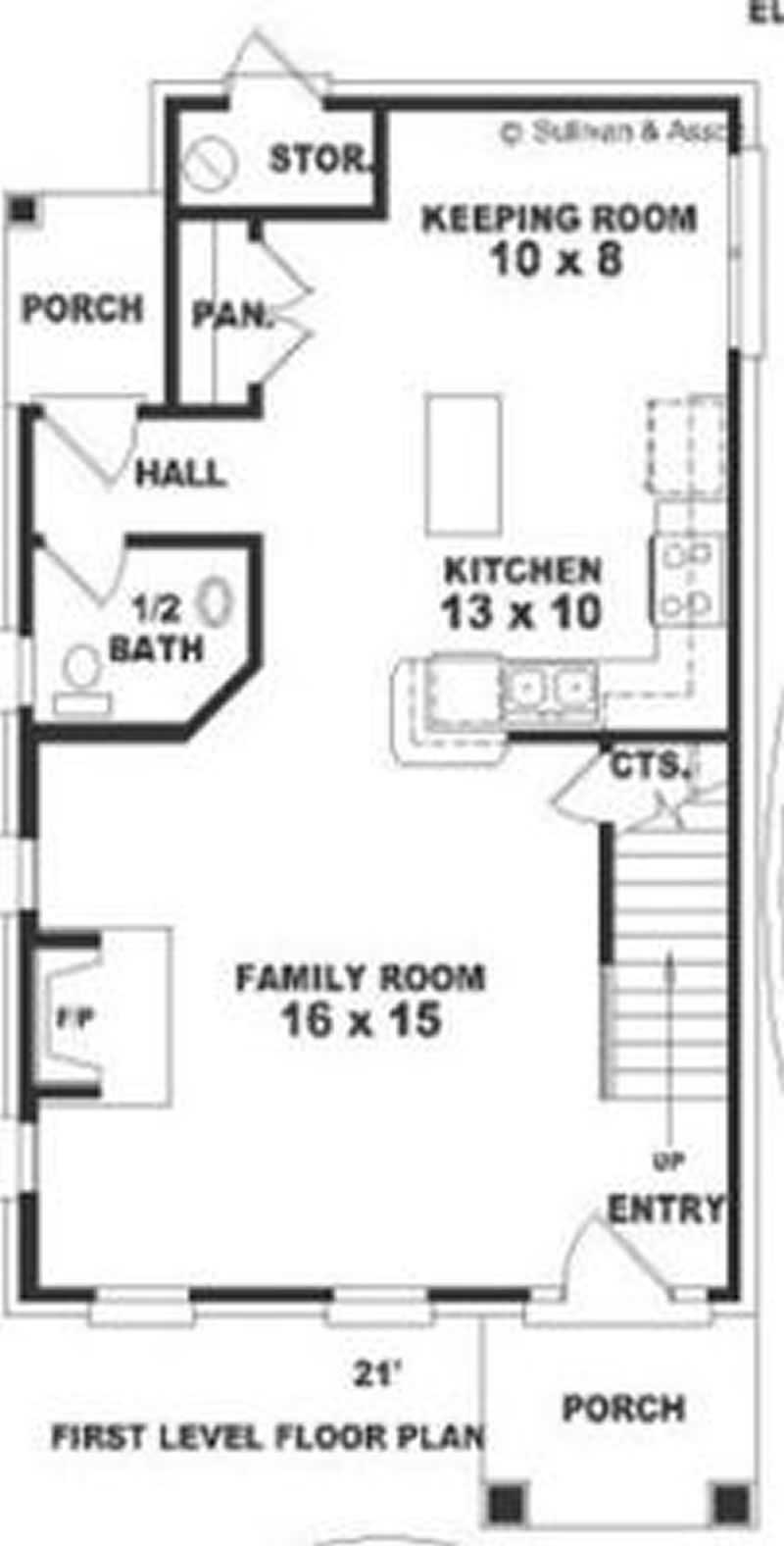 Small bungalow multi level house plans home design for Multi level floor plans