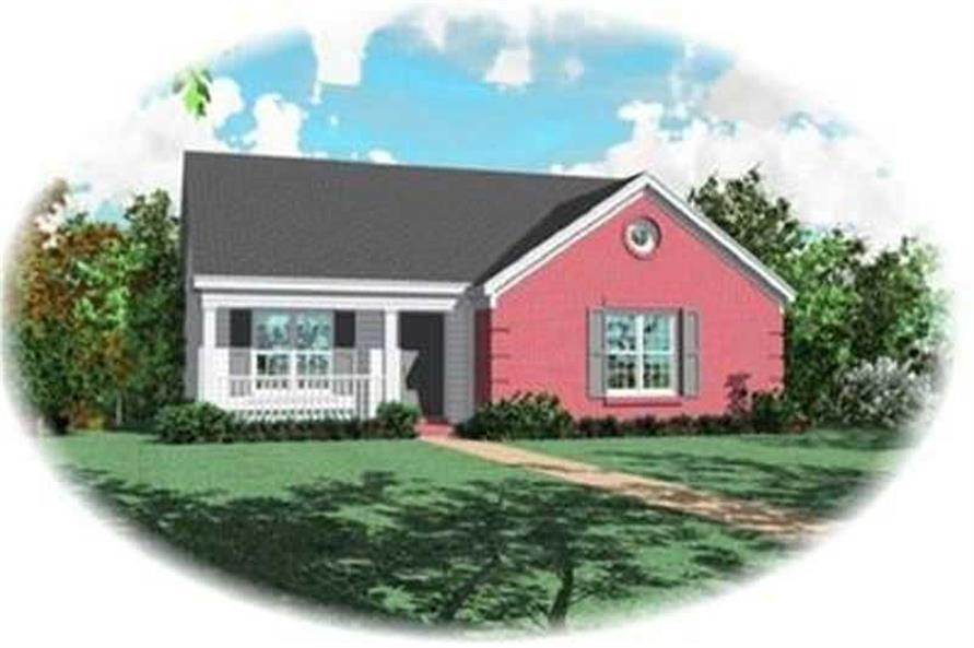 3-Bedroom, 1146 Sq Ft Country Home Plan - 170-3240 - Main Exterior