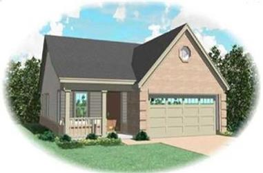 3-Bedroom, 1199 Sq Ft Bungalow Home Plan - 170-3242 - Main Exterior