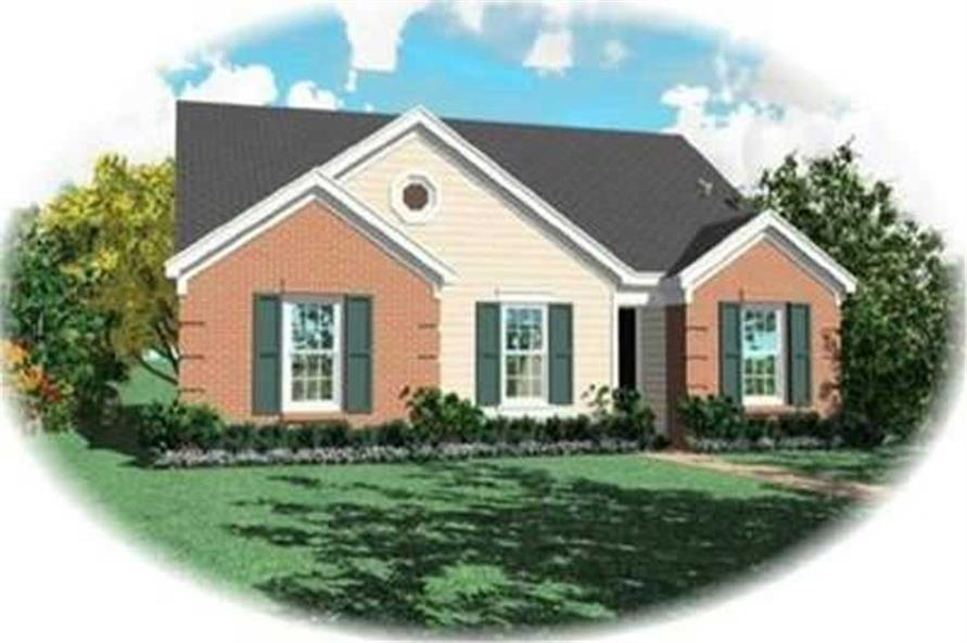 3-Bedroom, 1257 Sq Ft Bungalow Home Plan - 170-3243 - Main Exterior