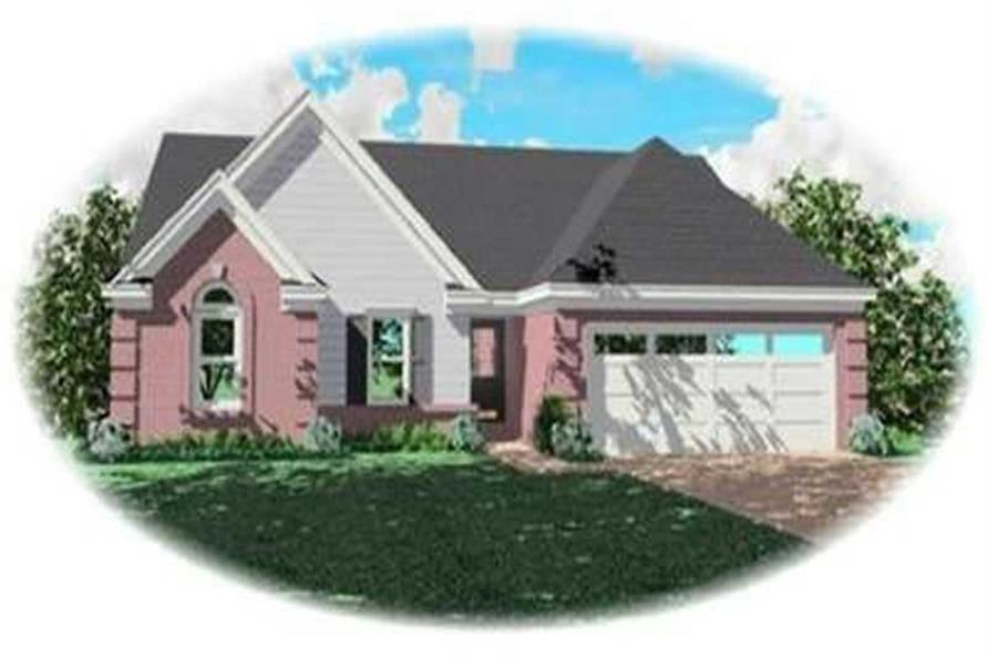 1-Bedroom, 1329 Sq Ft Contemporary Home Plan - 170-3245 - Main Exterior