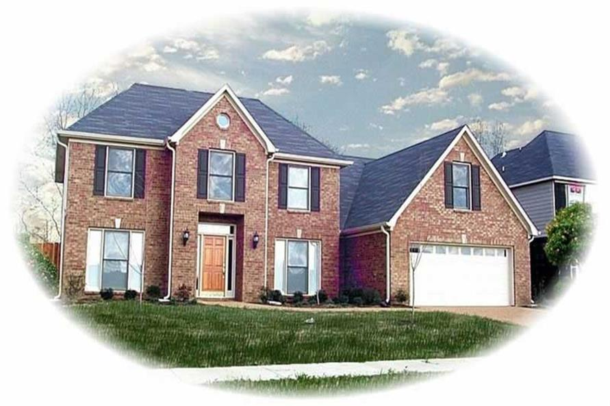 4-Bedroom, 2972 Sq Ft Traditional Home Plan - 170-3246 - Main Exterior