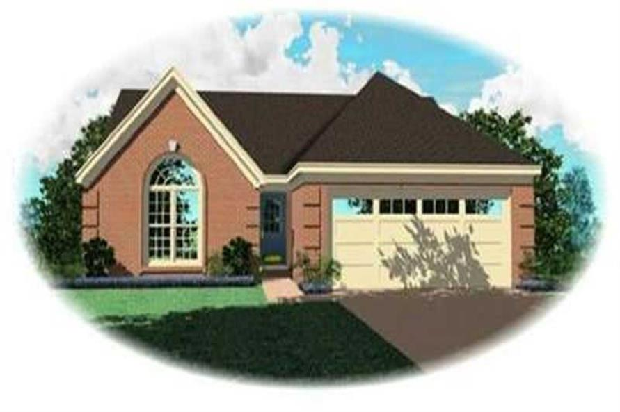 3-Bedroom, 1360 Sq Ft Contemporary Home Plan - 170-3249 - Main Exterior