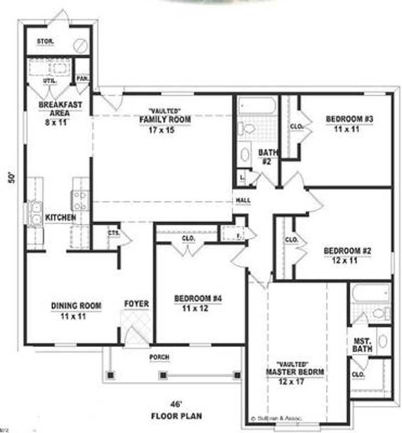 Ranch country house plans home design su1679 8293 for Country home collections flooring