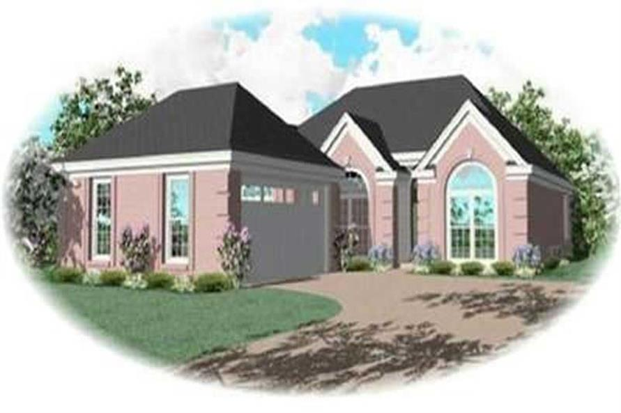 3-Bedroom, 1626 Sq Ft Contemporary House Plan - 170-3252 - Front Exterior
