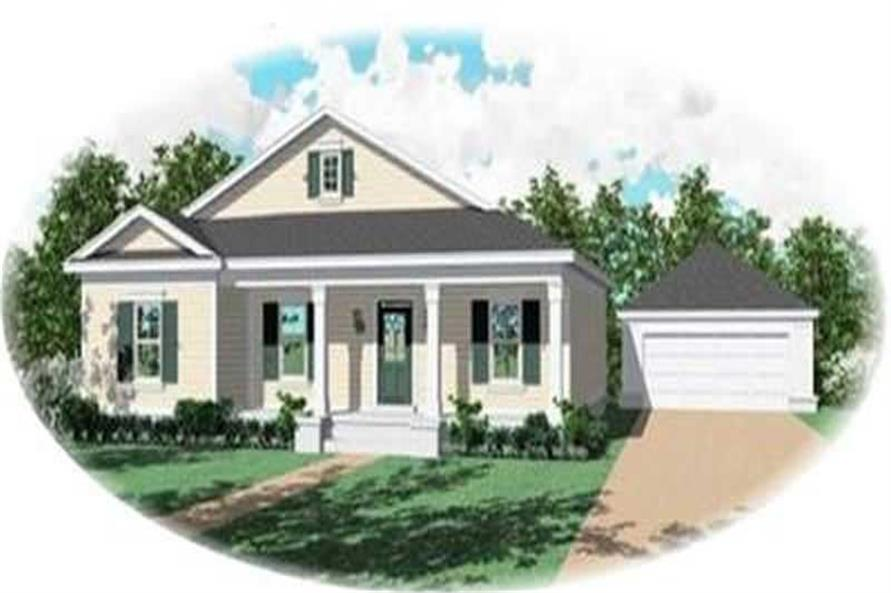 3-Bedroom, 1437 Sq Ft Country Home Plan - 170-3255 - Main Exterior