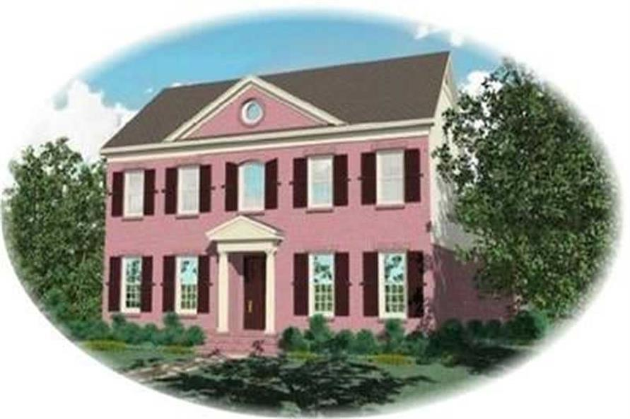 4-Bedroom, 3643 Sq Ft Colonial Home Plan - 170-3259 - Main Exterior