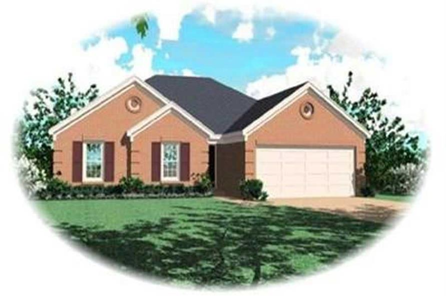 3-Bedroom, 1384 Sq Ft Country House Plan - 170-3263 - Front Exterior