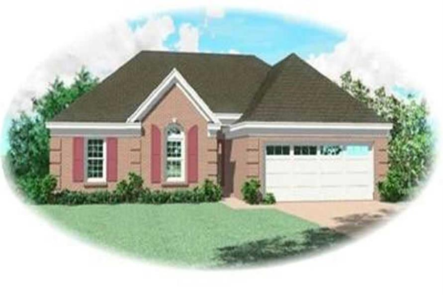 3-Bedroom, 1362 Sq Ft Ranch House Plan - 170-3264 - Front Exterior