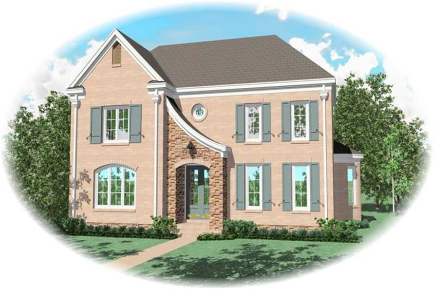 4-Bedroom, 3249 Sq Ft French Home Plan - 170-3271 - Main Exterior