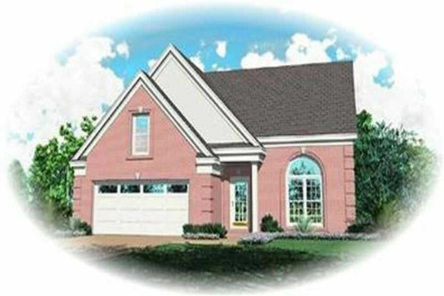 3-Bedroom, 1362 Sq Ft Contemporary House Plan - 170-3275 - Front Exterior