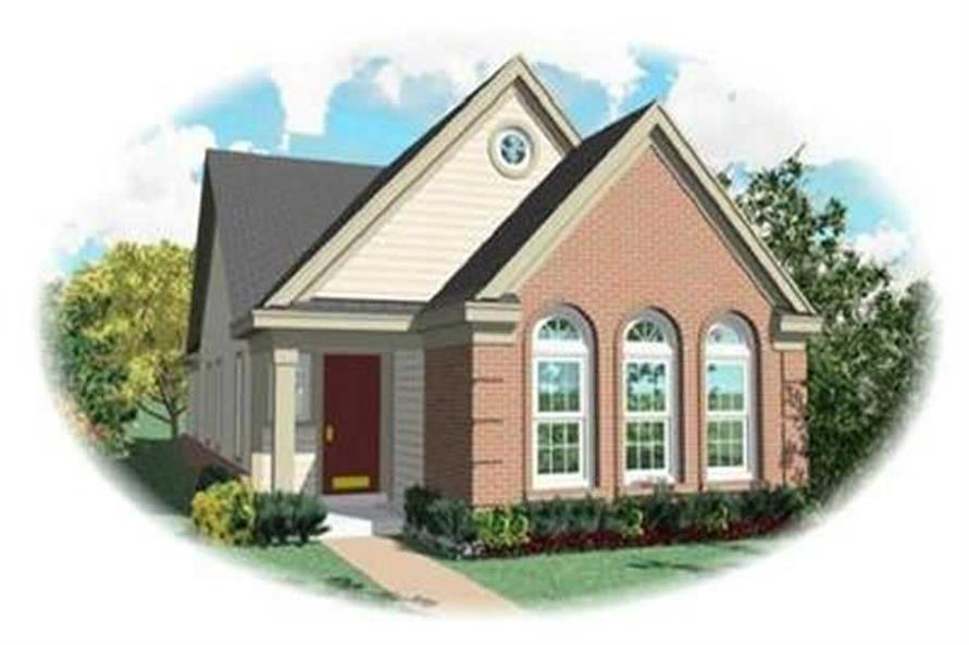 3-Bedroom, 1336 Sq Ft Bungalow Home Plan - 170-3276 - Main Exterior