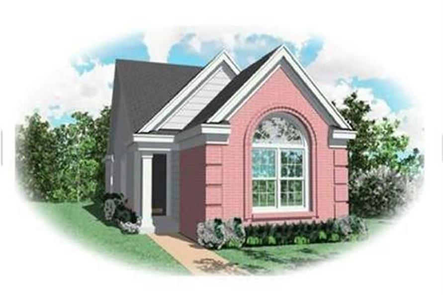 3-Bedroom, 1296 Sq Ft Bungalow House Plan - 170-3279 - Front Exterior