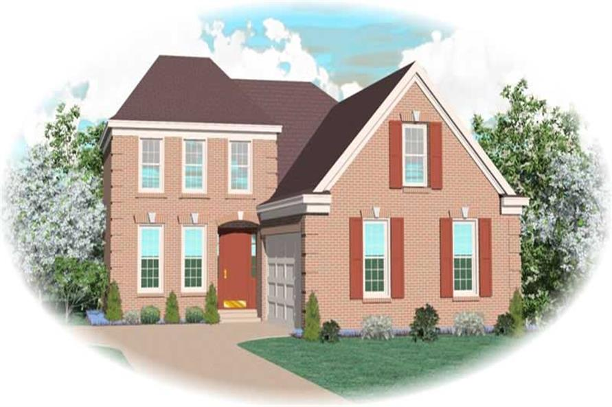 3-Bedroom, 2263 Sq Ft Traditional House Plan - 170-3284 - Front Exterior