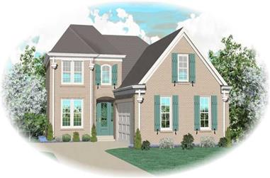 3-Bedroom, 2697 Sq Ft Country House Plan - 170-3286 - Front Exterior
